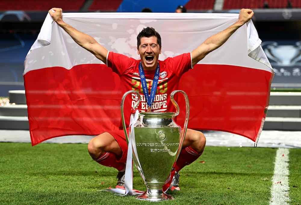 (SP)PORTUGAL-LISBON-FOOTBALL-UEFA CHAMPIONS LEAGUE-FINALS (200824) -- LISBON, Aug. 24, 2020 (Xinhua) -- Robert Lewandows